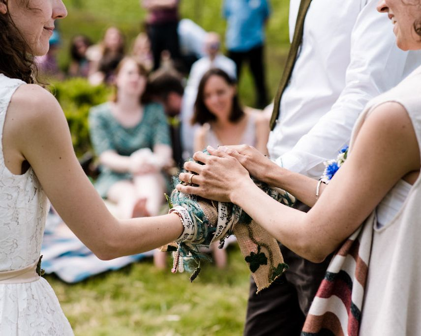 blessing the handfasting