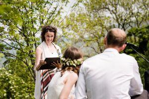 celebrant leading wedding ceremony
